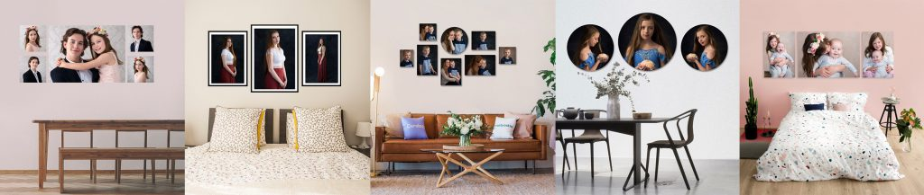 Wall art of family portraiture