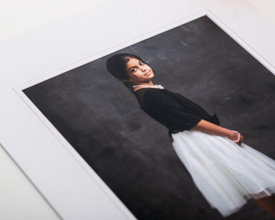 Printed fine art portrait